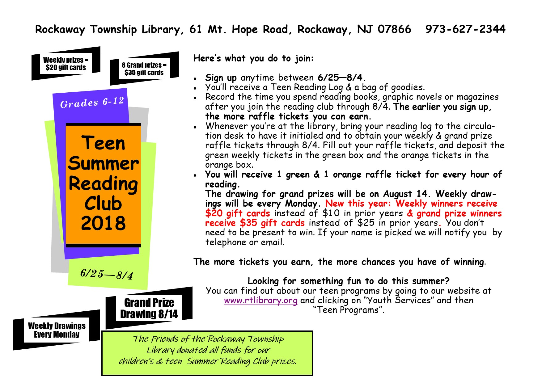 Download A Teen Reading Log Here